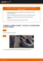 Jak vyměnit přední uložení tlumiče na VW Golf 5 – návod k výměně