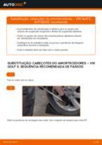 Como substituir Suporte de apoio do conjunto mola amortecedor dianteiro e traseiro VW GOLF V (1K1) - manual online