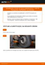 Como mudar e ajustar Pendural da barra estabilizadora VW TRANSPORTER: tutorial pdf