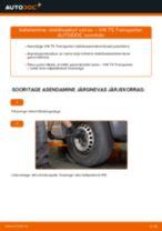 Asendamine Stabilisaatori otsavarras VW TRANSPORTER: käsiraamatute