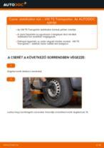 Elülső stabilizátor rúd-csere VW T5 Transporter gépkocsin – Útmutató