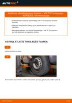 Pasukimo trauklė keitimas: pdf instrukcijos VW TRANSPORTER