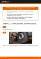VW TRANSPORTER V Box (7HA, 7HH, 7EA, 7EH) Biellette Barra Stabilizzatrice sostituzione: tutorial PDF passo-passo
