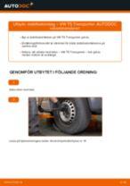 bak och fram Stabilisatorstag VW Transporter V Skåpbil (7HA, 7HH, 7EA, 7EH) | PDF instruktioner för utbyte