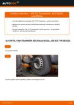 VW TRANSPORTER V Box (7HA, 7HH, 7EA, 7EH) Tanko kallistuksenvaimennin asennus - vaihe vaiheelta korjausohjeet