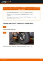 Jak vyměnit přední tyčky stabilizátora na VW T5 Transporter – návod k výměně