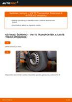 Kaip pakeisti gale dešinė Pasukimo trauklė VW TRANSPORTER V Box (7HA, 7HH, 7EA, 7EH) - instrukcijos internetinės