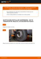 Cómo cambiar: rótula de suspensión de la parte delantera - VW T5 Transporter | Guía de sustitución
