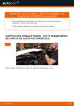 Cómo cambiar: pinza de freno de la parte trasera - VW T5 Transporter | Guía de sustitución