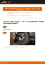 Kuinka vaihtaa alapallonivel eteen VW T5 Transporter-autoon – vaihto-ohje