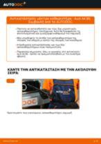 Αλλαγή Μάκτρο καθαριστήρα AUDI A4: εγχειριδιο χρησης