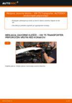 Kako zamenjati avtodel zavorne klešče zadaj na avtu VW T5 Transporter – vodnik menjave