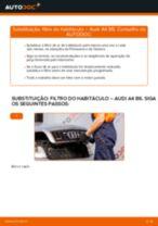 Como mudar filtro habitáculo em Audi A4 B6 - guia de substituição