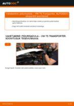 Kuidas vahetada VW T5 Transporter taga-pidurisadula – õpetus