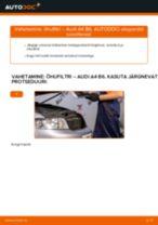 Õhufilter vahetus: pdf juhend AUDI A4