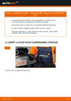Mikor cseréljünk Ablaktörlő AUDI A4 (8E2, B6): pdf kézikönyv