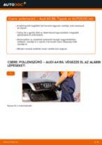 Pollenszűrő-csere Audi A4 B6 gépkocsin – Útmutató