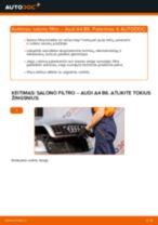 Oro filtras, keleivio vieta pakeitimas AUDI A4 (8E2, B6) - patarimai ir gudrybės
