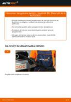 Când trebuie sa schimbi Lamela stergator AUDI A4 (8E2, B6): pdf manual