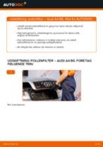 Udskift pollenfilter - Audi A4 B6 | Brugeranvisning