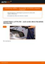 Udskift luftfilter - Audi A4 B6 | Brugeranvisning