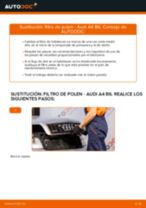 Cómo cambiar: filtro de polen - Audi A4 B6 | Guía de sustitución