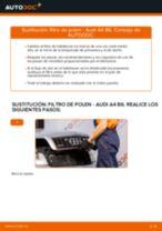 Reemplazar Juego de reparación pinza de freno AUDI A4: pdf gratis