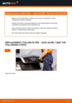 Step by step PDF-tutorial on Distributor Cap AUDI A4 (8E2, B6) replacement