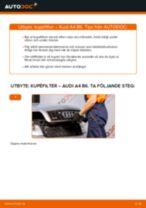 Byta kupéfilter på Audi A4 B6 – utbytesguide