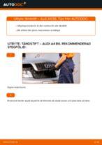 Byta tändstift på Audi A4 B6 – utbytesguide