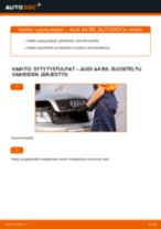 Online-ohjekirja, kuinka vaihtaa Moottorin tukikumit VW Polo Classic 6kv -malliin