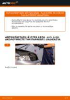 Αλλαγή Φίλτρο αέρα AUDI A4: εγχειριδιο χρησης