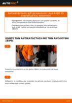 Αντικατάσταση Φιλτρο πετρελαιου βενζίνη AUDI μόνοι σας - online εγχειρίδια pdf