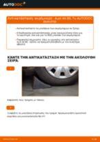 Τοποθέτησης Ακρόμπαρο AUDI A4 (8E2, B6) - βήμα - βήμα εγχειρίδια