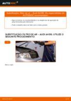 Como mudar filtro de ar em Audi A4 B6 - guia de substituição