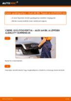 Gyújtógyertya-csere Audi A4 B6 gépkocsin – Útmutató