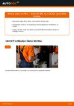 Mainīties AUDI A4 (8E2, B6) Eļļas filtrs - soli-pa-solim pamācības PDF