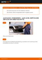Zündkerzen AUDI A4 Limousine (8E2, B6) | PDF Wechsel Tutorial