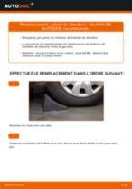 Comment changer : rotule de rirection sur Audi A4 B6 - Guide de remplacement