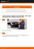 Sostituzione Candele di accensione AUDI A4: pdf gratuito
