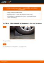 Kuinka vaihtaa raidetangon pää Audi A4 B6-autoon – vaihto-ohje