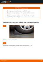 Vgraditi Šipka stabilizatorja AUDI A4 (8E2, B6) - priročniki po korakih