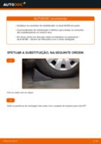 Como mudar tirante da barra estabilizadora da parte dianteira em Audi A4 B6 - guia de substituição