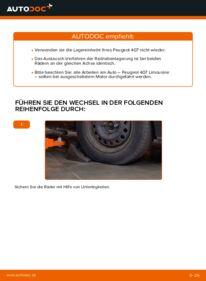 Wie der Wechsel durchführt wird: Radlager Peugeot 407 Limousine 2.0 HDi 135 1.6 HDi 110 2.0 tauschen