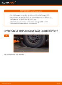 Comment effectuer un remplacement de Roulement De Roues sur 2.0 HDi 135 Peugeot 407 Berline