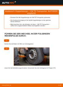 Wie der Wechsel durchführt wird: Koppelstange 2.5 TDI VW T5 Kasten tauschen