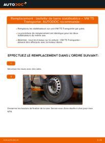 Comment effectuer un remplacement de Biellette De Barre Stabilisatrice sur 2.5 TDI VW T5 Van