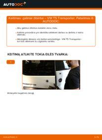 Kaip atlikti keitimą: 2.5 TDI VW T5 Van Kombinuotas galinis žibintas