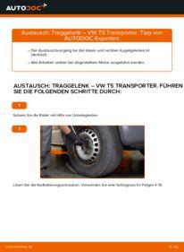 Wie der Wechsel durchführt wird: Traggelenk 2.5 TDI VW T5 Kasten tauschen
