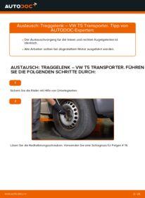 Wie der Ersatz vollführt wird: Traggelenk am VW TRANSPORTER